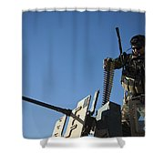 An Afghan National Army Soldier Shower Curtain