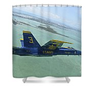 An Fa-18 Hornet Of The Blue Angels Shower Curtain