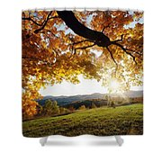 Sunset With An Abstract Twist Shower Curtain