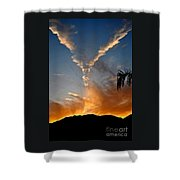 Angel Wings In The Sky Shower Curtain