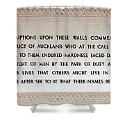 Anzac Day 2014 Auckland Shower Curtain