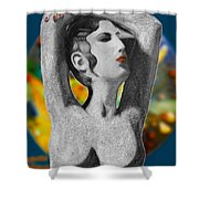 Aphrodite And  Cyprus Map Shower Curtain