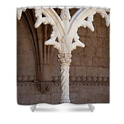Architectural Details Of Jeronimos Monastery In Lisbon Shower Curtain