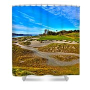 #3 At Chambers Bay Golf Course - Location Of The 2015 U.s. Open Championship Shower Curtain by David Patterson