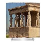 Athens, Attica, Greece. Porch Shower Curtain
