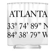 Atlanta Coordinates Shower Curtain