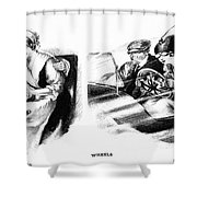 Automobile Cartoon, 1914 Shower Curtain