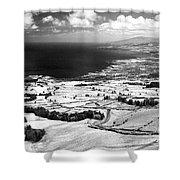 Azores Coastal Landscape Shower Curtain