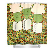 3 Bakers Shower Curtain