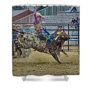 Bareback Bronc Riding Shower Curtain