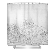 Battle Of Princeton, 1777 Shower Curtain