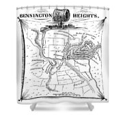 Battle Of Saratoga, 1777 Shower Curtain