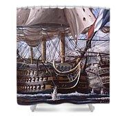 Battle Of Trafalgar Shower Curtain