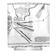 Battle Of Virginia Capes Shower Curtain