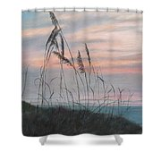 Beach Morning View Shower Curtain