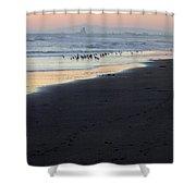 Beach Sunset Ormond Beach Shower Curtain