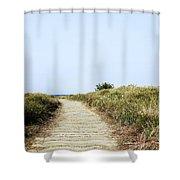 Beach Trail Shower Curtain