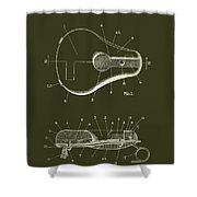 Bicycle And Motorcycle Seat 1925 Patent Shower Curtain