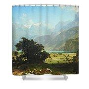 Bierstadt's Lake Lucerne Shower Curtain