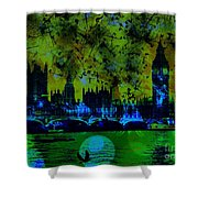 Big Ben On The River Thames Shower Curtain