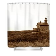 Block Island North Lighthouse Shower Curtain