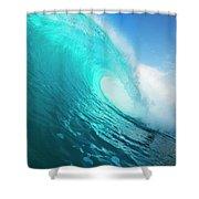 Blue Ocean Wave Shower Curtain