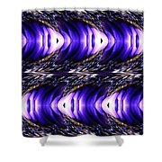 Blue Poppy Fish Abstract Shower Curtain