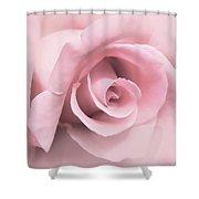 Blushing Pink Rose Flower Shower Curtain