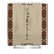 Boyle Written In Ogham Shower Curtain