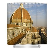 Brunelleschi's Dome At The Florence Cathedral  Shower Curtain