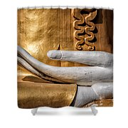 Buddha Hand Shower Curtain