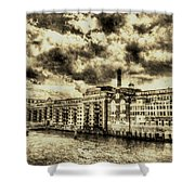 Butlers Wharf London Vintage Shower Curtain