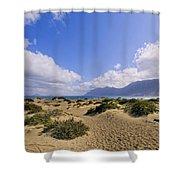 Caleta De Famara Beach On Lanzarote Shower Curtain