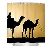 Camel Caravan, India Shower Curtain