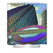 Canary Wharf London Art Shower Curtain