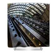 Canary Wharf Station Shower Curtain