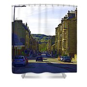 Car In A Queue Waiting For A Signal In Edinburgh Shower Curtain