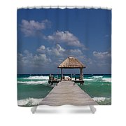 Caribbean Landing Shower Curtain
