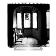 3 Castle Rooms Bw Shower Curtain