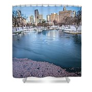 Charlotte North Carolina Marshall Park In Winter Shower Curtain