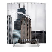 Chicago Architecture Shower Curtain