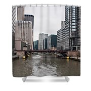 Chicago Skyline And Streets Shower Curtain