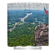 Chimney Rock At Lake Lure Shower Curtain