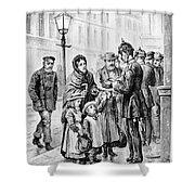 Cholera: Hamburg, 1892 Shower Curtain