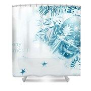 Christmas Balls Decoration Shower Curtain