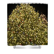 Christmas Tree Ornaments Faneuil Hall Tree Boston Shower Curtain