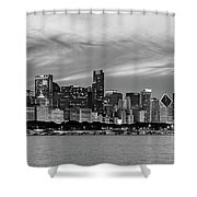 City At The Waterfront, Lake Michigan Shower Curtain
