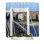 City Of Budapest In Hungary Shower Curtain