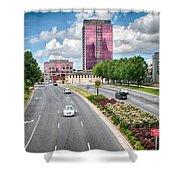 City Streets Of Charlotte North Carolina Shower Curtain
