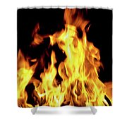 Close-up Of Fire Flames Shower Curtain